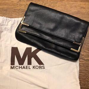 Michael Kors Foldover Leather Clutch